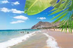 Las Teresitas strand, Tenerife Arkivbild