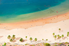 Las Teresitas strand, Tenerife Royaltyfri Fotografi