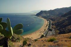 Las Teresitas strand, Tenerife, Spanien Arkivbild