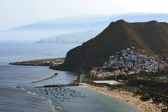 Las Teresitas strand, Tenerife, Spanien Royaltyfri Fotografi