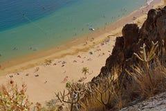 Las Teresitas strand, Tenerife, Spanien Royaltyfri Foto