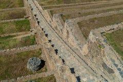 Las terrazas agrícolas del inca en Ollantaytambo fotografía de archivo libre de regalías