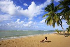 Las Terrenas beach, Samana peninsula Stock Photos