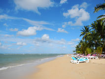 Las Terrenas beach, Samana peninsula Stock Images
