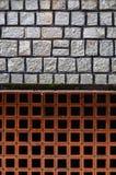 Las texturas del fondo de la pared de piedra se utilizan en el diseño de la arquitectura, un trabajo de ladrillo Foto de archivo