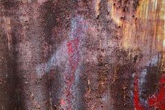 Las texturas hermosas del primer resumen el metal oxidado viejo y el fondo de acero imágenes de archivo libres de regalías