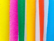 Las tiras de papel coloreadas adornan a bordo foto de archivo libre de regalías