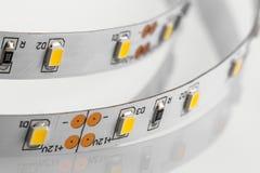 Las tiras del LED sin la protección del silicón hicieron un techno de los microprocesadores de SMD 3 Imagenes de archivo