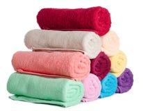 Las toallas combinadas del color Fotografía de archivo