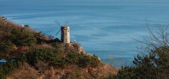 Las torres antiguas del mar Imágenes de archivo libres de regalías