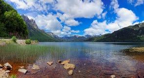 Las Torres, Cile, Sudamerica di Lago Fotografia Stock