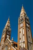 Las torres de la catedral en Szeged Imagen de archivo