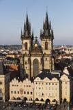 Las torres de la iglesia de nuestra señora antes del ½ n de TÃ, Fotografía de archivo libre de regalías