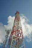Las torres de la transmisión del teléfono Fotografía de archivo