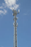 Las torres de la transmisión del teléfono Imágenes de archivo libres de regalías