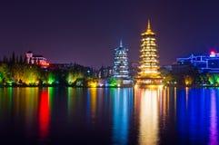 Las torres del chino fotografía de archivo