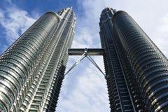 Las torres gemelas Kuala Lumpur, Malasia de Petronas Imágenes de archivo libres de regalías