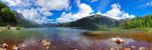 Las Torres Lago, Чили, Южная Америка стоковые фото