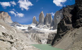 Las Torres - Landscape. The towers at Torres Del Paine National Park - Chile royalty free stock photos