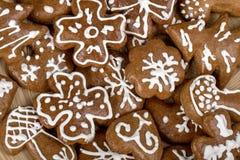 Las tortas de la Navidad de Homenade se cierran para arriba Imagen de archivo libre de regalías