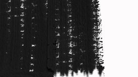 Las transiciones abstractas de la brocha revelan el paquete con el canal alfa - transparencia stock de ilustración
