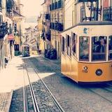 Las tranvías de Lisboa Imagen de archivo libre de regalías
