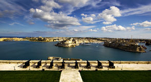 Las tres ciudades en Malta Fotos de archivo libres de regalías