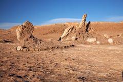 Las Tres Marias,阿塔卡马沙漠,智利 免版税库存图片