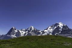 Las tres montañas famosas en Suiza Fotografía de archivo