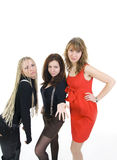 Las tres muchachas Imágenes de archivo libres de regalías