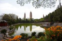 Las Tres-Pagodas Foto de archivo