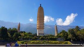 Las tres pagodas, Dali, Yunnan, China fotos de archivo
