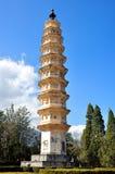 Una de las tres pagodas Fotos de archivo