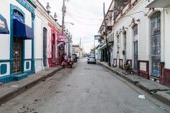 LAS TUNAS, CUBA - JAN 27, 2016: View of a street in Las Tunas royalty free stock image