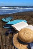 Las vacaciones de verano en la playa apuntalan, los accesorios para la playa ho Fotografía de archivo