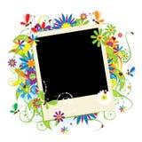 Las vacaciones de verano, insertan su foto en marco Fotografía de archivo