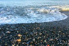 Las vacaciones de verano de la playa de la estación de la espuma del mar se relajan disfrutan de concepto Imagenes de archivo