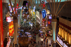 Las Vagas im Stadtzentrum gelegenes helles Erscheinen Stockfotografie