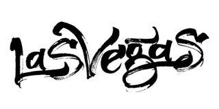 las vegas Σύγχρονη εγγραφή χεριών καλλιγραφίας για την τυπωμένη ύλη Serigraphy Στοκ Εικόνες