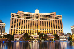 Las Vegas - 11 de septiembre de 2010 - casino del hotel de Bellagio Foto de archivo libre de regalías