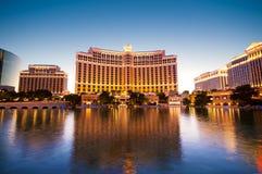 Las Vegas - 11 Sep 2010 - Bellagio Hotel Casino. During sunset stock images