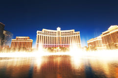 Las Vegas - 11 Sep 2010 - Bellagio Hotel Casino. During sunset stock photography