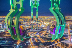 Las Vegas. NOVEMBER 08: The x-stream thrill ride on the top of Stratosphere tower on November 08, 2012 in .  in 2012 is projected to break the all-time Royalty Free Stock Image