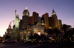Las Vegas. Main street Strip at night hotel New York Stock Images