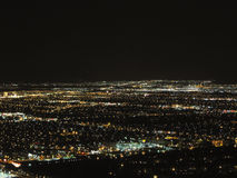 Las Vegas- - Aereal-Nachtansicht Lizenzfreies Stockbild