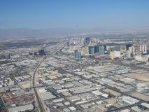 LAS VEGAS Aerial City View - August 2017 Cityscape Royalty Free Stock Photography