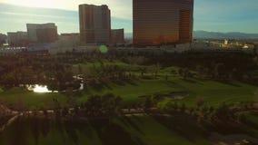 Las Vegas Aerial Cityscape Golf Course stock footage