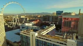 Las Vegas Aerial Cityscape Strip. V9 Low flying aerial over strip