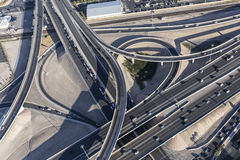 Las Vegas Aerial Freeway Ramps Stock Photos