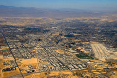 Aerial view over Las Vegas Stock Photography